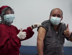 Anggota DPRD Sumedang Antusias Jalani Vaksinasi Dosis Pertama