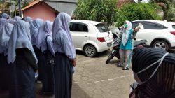 siswa SMA di vaksin